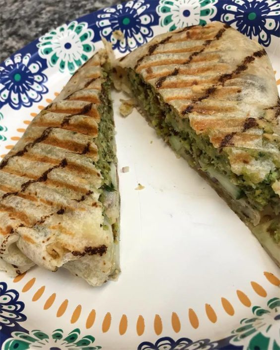 Gluten free Falafel Panini Wrap